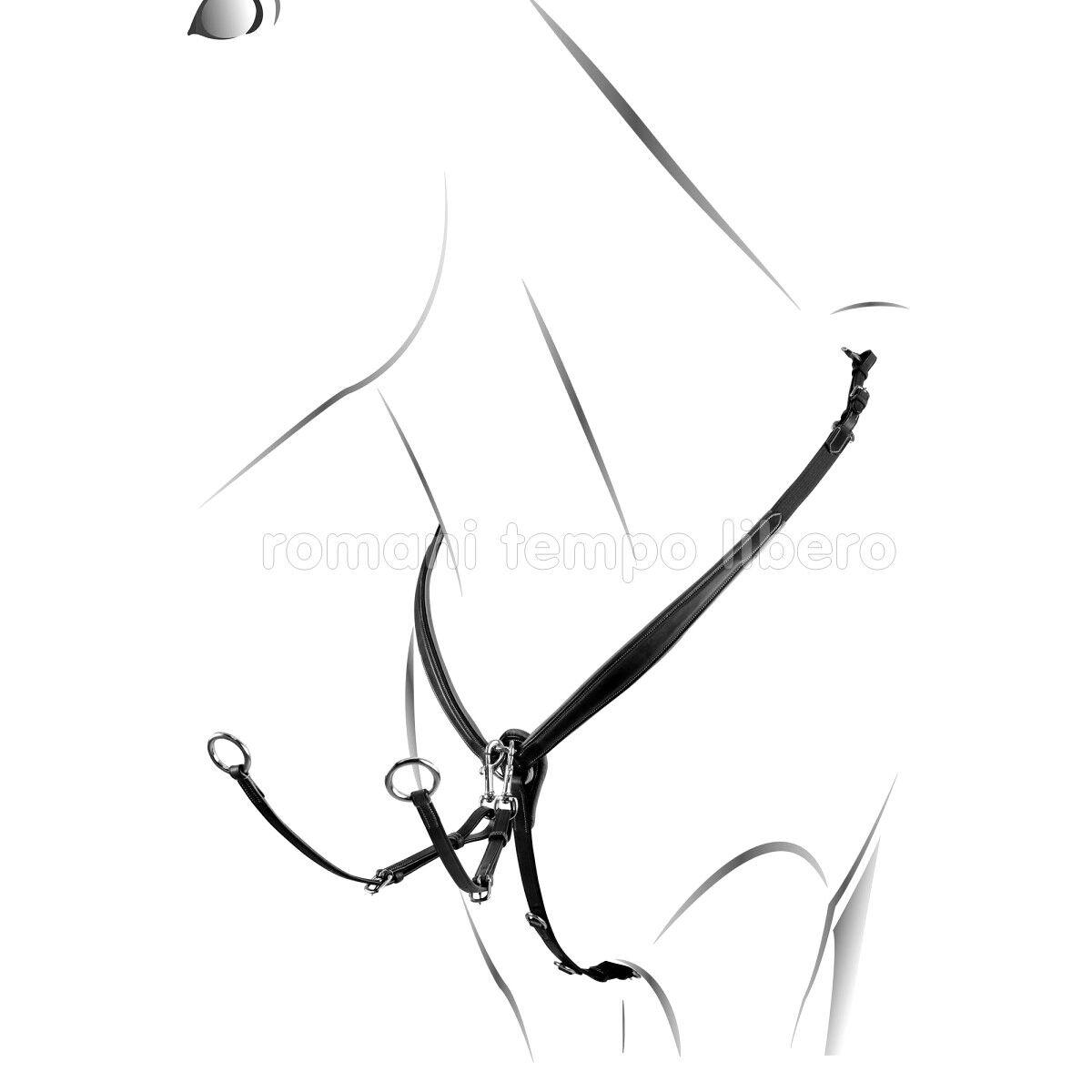 Pettorale Equestro Jumping Y geformte elastische Brustplatte mit Martinigal