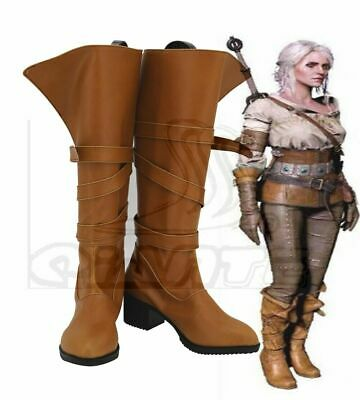 The Witcher 3 Ciri Shoes Boots Halloween Cosplay Comic Con Women Costume Shoes
