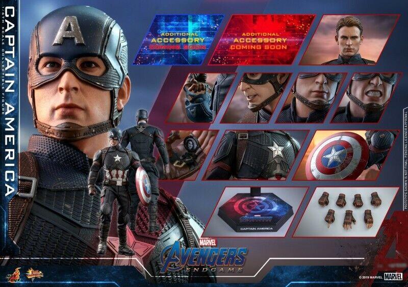 1 6 Hot Juguetes MMS536 Los Vengadores 4 Figura De Capitán América de los batalla final Juguetes Regalos