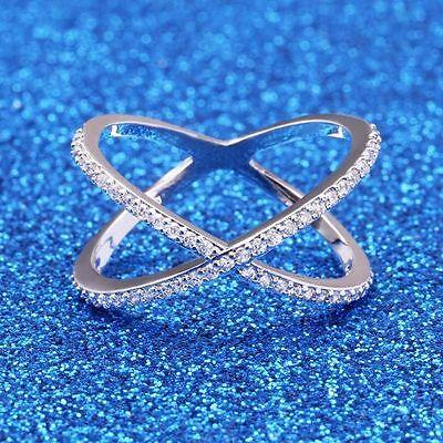 0.51CT Women 925 Silver Star Topaz Gemstone Wedding Bridal Engagement  Size 10