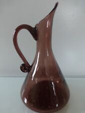Bischoff Amethyst Pitcher with Controlled Bubbles, 1950's