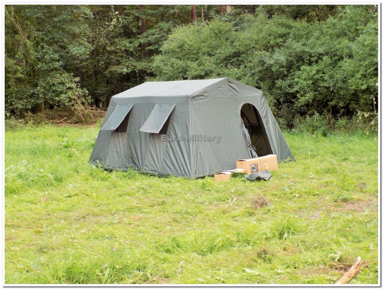 Military Army all'aperto gree BaseCamp Tent Shelter 6 Person  Olive  Factory nuovo