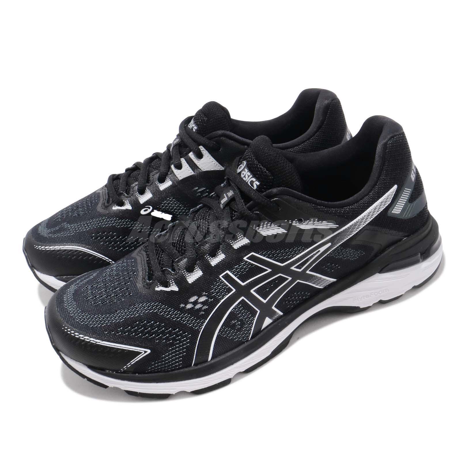 Asics GT 2000 7 4E Extra Ancho Negro blancoo blancoo blancoo Hombres Zapatos Tenis Para Correr 1011A161-001 74c09d