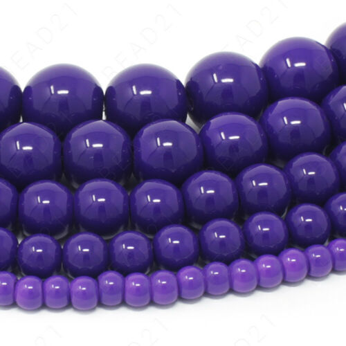 """Czech Opaque Glass Beads Round Pearl Coated 4mm 6mm 8mm 10mm 12mm 16/"""" Strand"""
