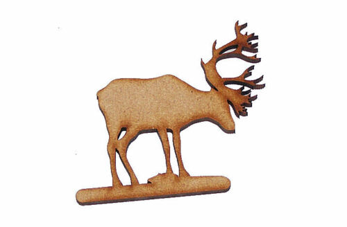 Pack of 10 50mm High MDF Reindeer blanks for embellishing your project #01