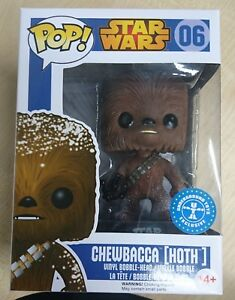 Funko Chewbacca Hoth Neige Star Wars Exclusif Pop #06 Métro Jouets