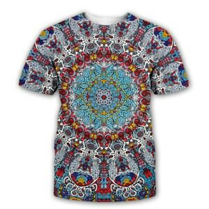 Glow-in-the-Dark-Psychedelic-3D-print-Casual-T-Shirt-WomenMen-Short-Sleeve-Tops