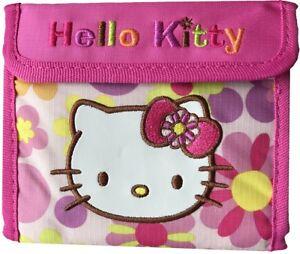 comprare popolare 4e057 975a4 Dettagli su Sanrio Hello Kitty Fiore Rosa Sports Portafoglio Merchandising  con Licenza