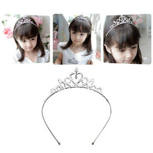 Rhinestone-Crown-Heart-Tiara-Hair-Band-Girls-Kid-Bridal-Princess-Wedding-Party