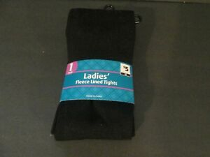 Ladies Fleece Lined Tights 95 % Poly 5 % Spandex New In Pack Rp