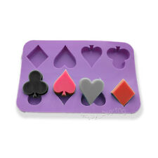 Vegas Poker Suit Soap Chocolate Jello Silicone Mold Spade Heart Diamond Club
