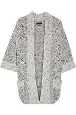 Gilet ISABEL MARANT Grande ligne Gris Grey Jacket Chunky knit Cardigan NWT NEUF