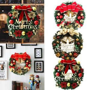 Details About Christmas Door Wreath Stairs Fireplace Christmas Garland Xmas Tree Wall Decor Uk