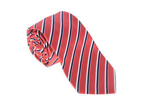 9c0edcea4e9e Kiton Napoli Mens Red With Black White Stripes Seven Fold Handmade ...