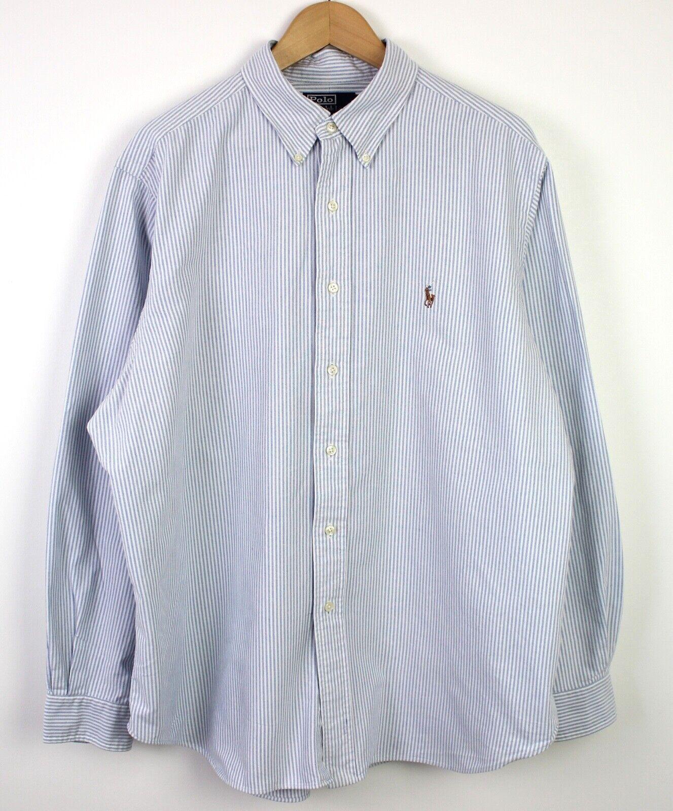 online retailer 43498 b61af Genuine Ralph Lauren blu Bianca a Righe Da Uomo BUTTON DOWN ...