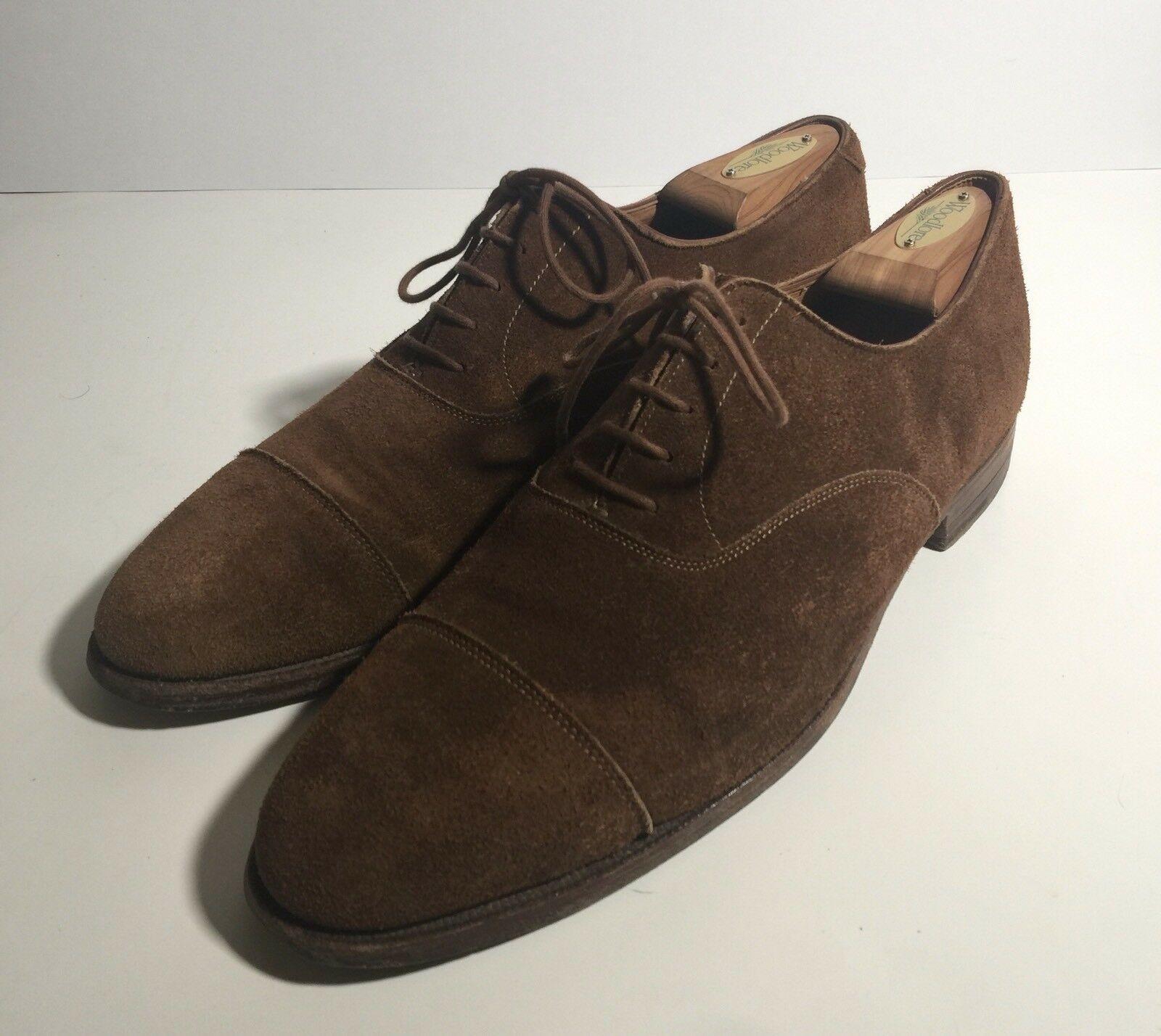 Crockett & & Crockett Jones Polo marrone Suede Cap Toe Oxford Scarpe Uomo 10.5 Uk / 11.5 us 0bc7de