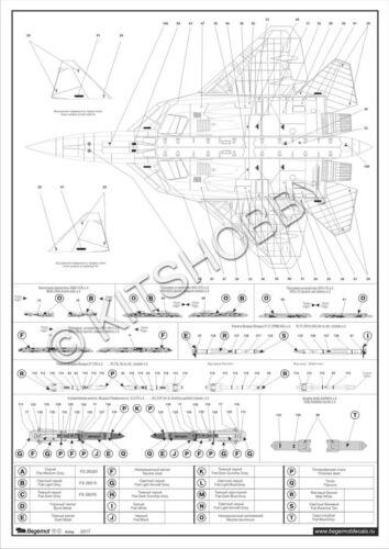 Begemot decal 1//72 Sukhoi T-50 PAK-FA for Hobbyboss Kit