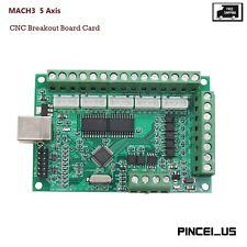 Mach3 5 Axis Cnc Breakout Board Card 1000khz Usb Cnc Motion Control Card