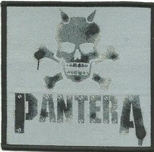 PANTERA-skull-stencil-WOVEN-SEW-ON-PATCH-official-merch-SEALED-no-longer-made