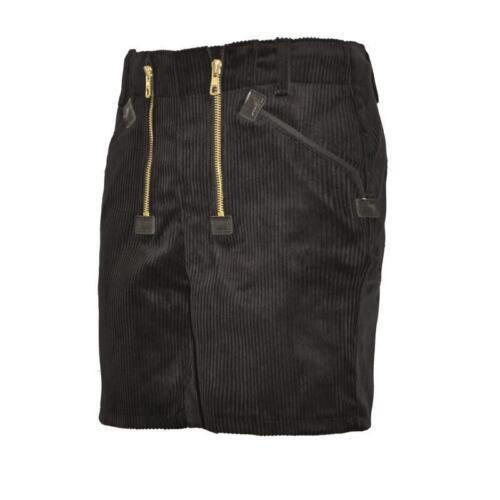 Eiko Gilda doposcuola Short trenkercord Lavoro Nero Pantaloni Pantaloni Gilda 4111 tg 44-64