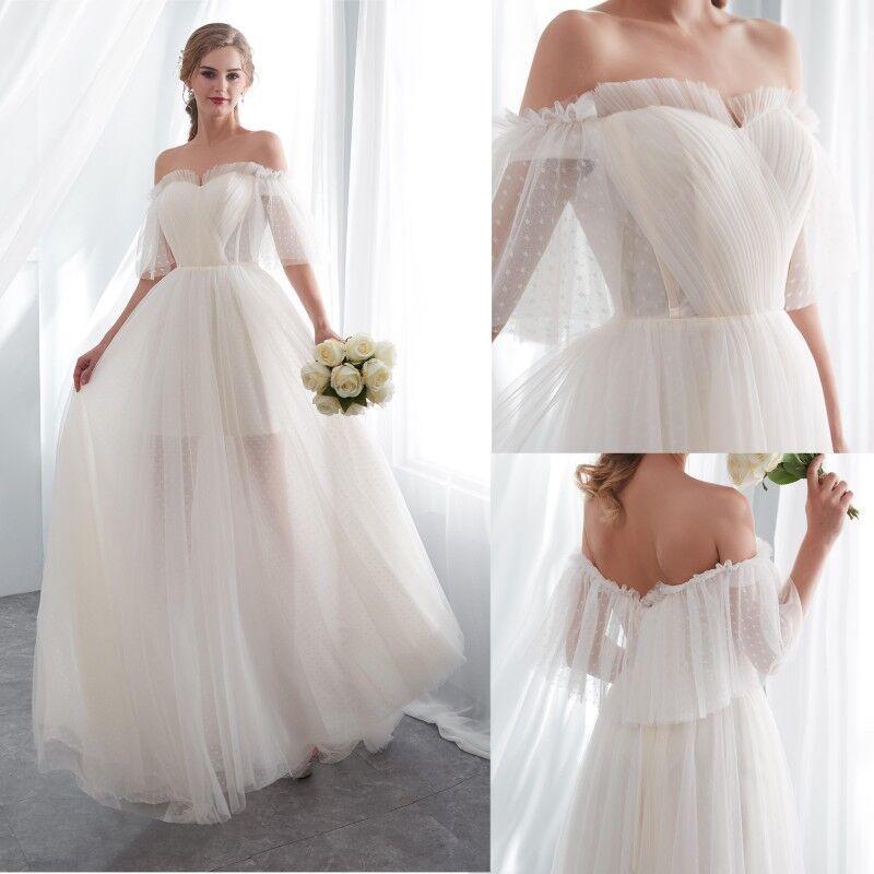 Modern und elegant in der Mode heiße neue Produkte hoch gelobt Kleider Damen Weiß Ballkleider Abendkleid Hochzeitskleid ...