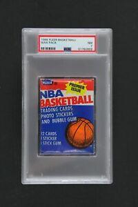1986 Fleer Basketball Wax Pack PSA NM 7 Michael Jordan Rookie Year