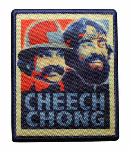 Herb Green 4 INCH Cheech and Chong Retro Sublimation Iron On Sew On Patch