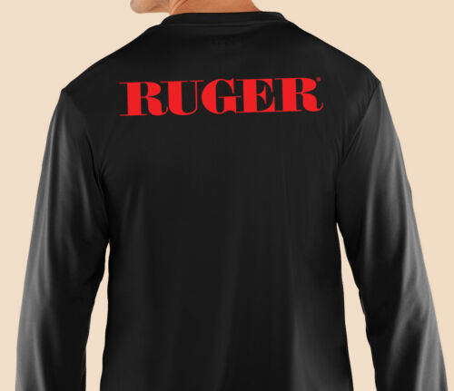 Political Gun Control Ruger Cotton Blk Weapons Gildan Long Sleeve T-Shirt