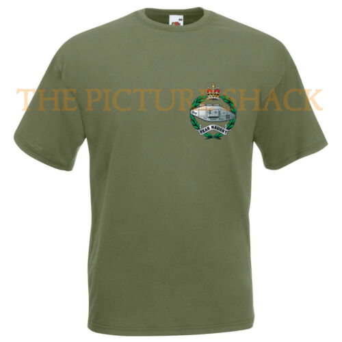 ROYAL TANK REGIMENT CAP BADGE PRINTED ON A T SHIRT CHOICE OF 5 COLOURS