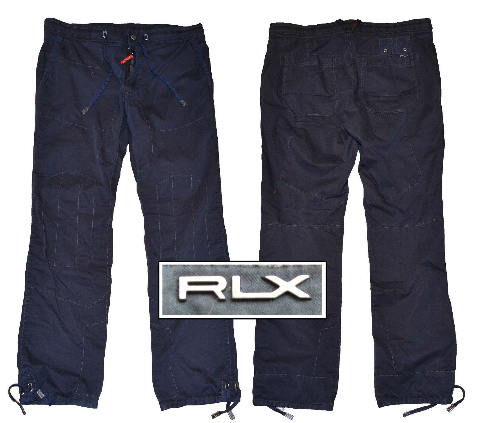 NWT RLX Ralph Lauren All-Terrain Twill Pants in Navy Size 38X30