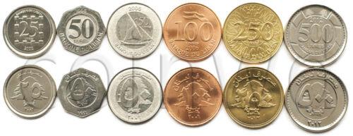 LEBANON 6 COINS SET 1996-2012 UNC #459