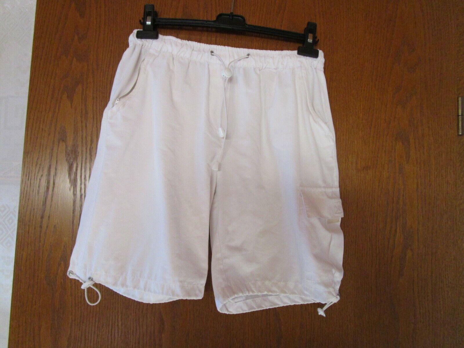 Damen Cargo Short kurze Hose Wollweiss Gr 38