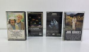 Lot of 4 - Vintage Cassette Tapes - Genesis, Simon & Garfunkel, Stevie Wonder