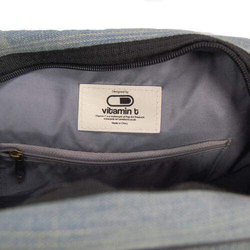 Brick Flight Bag School Bag Shoulder Bag Travel Denim and Black