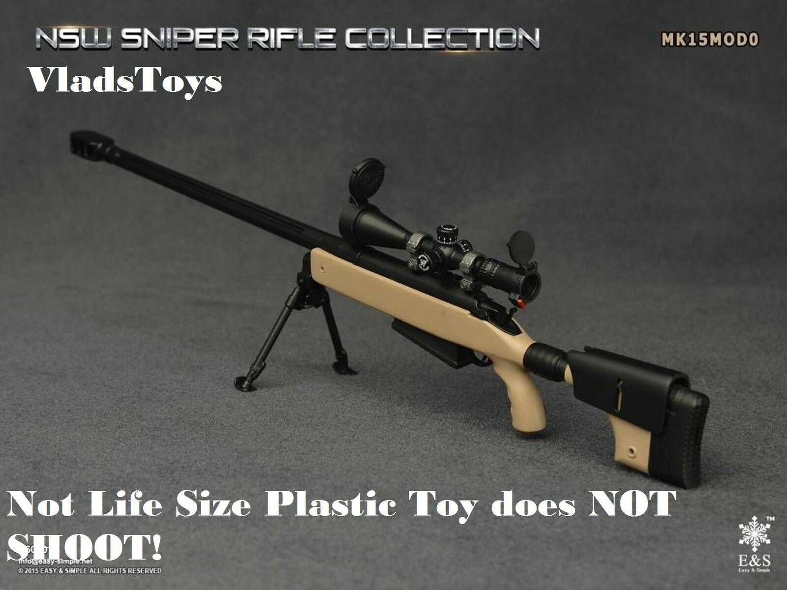 Easy & Simple 1 6  NSW sniper rifle Mk15Mod0 factory tan 06010 F Not Life Size
