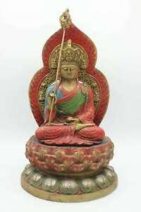 Ksitigarbha-Bronce-Figura-Bodhisattva-Estatua-China-Jizo-Escultura