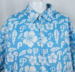 Philadelphia-Phillies-Hawaiian-Shirt-XL-Mens-Short-Sleeve-2017-Fathers-Day-SGA