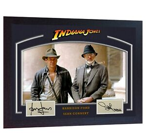 Sean-Connery-Harrison-Ford-Indiana-Jones-signed-autograph-photo-print-Framed