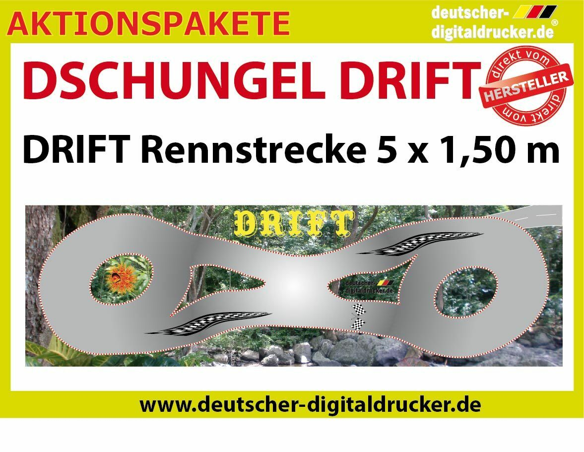 Giungla Drift Pista-Drift RC CARS 1:28 - TELONE PVC 4 colori - 5 x 1,5 M