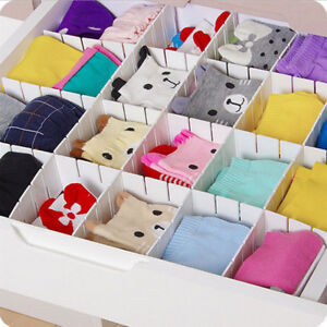 Pack-of-6-Adjustable-Drawer-Dividers-Wardrobe-Clothes-Organiser-Kitchen-Bedroom