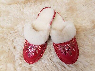 Nuevas señoras para mujer Suela Dura Invierno Peludo Slip On Mulas Zapatillas Zapatos TK