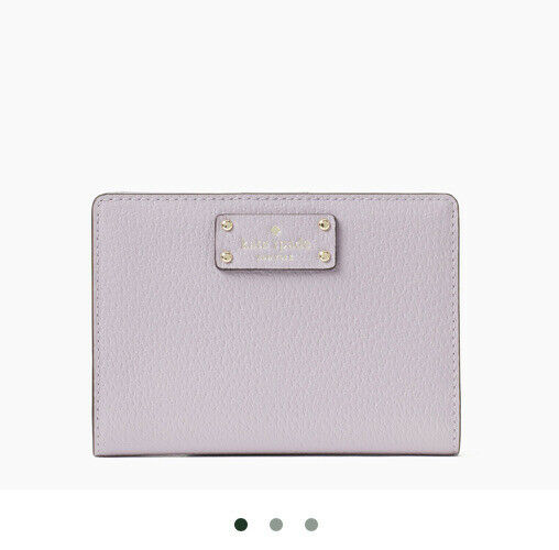 New Kate Spade New York Tellie Grove Street Leather wallet Lavender Mist