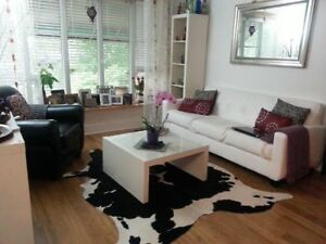 Details About Black White Cowhide Rug Cow Skin Leather Area