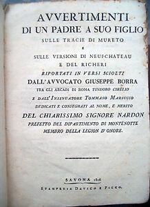 1806-SAVONA-DIPARTIMENTO-DI-MONTENOTTE-OPERA-DEDICATA-HUGUES-NARDON-NAPOLEONICA