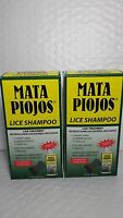2x Lice Shampoo Mata Piojos (pack Of 2) 2 Fl Oz Each Comb Inside Made In Usa