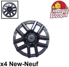 4 x Lego System Wheel Black 17.5 x 6 Rim 0 7//16in D.x 0 1//4in with 5 Spoke