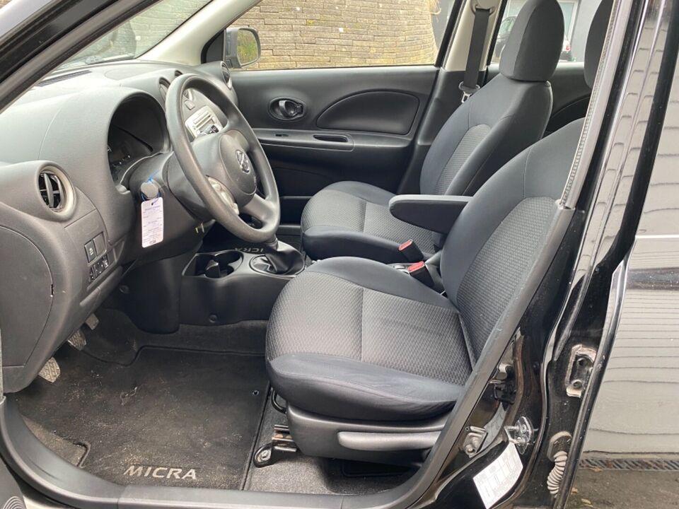 Nissan Micra 1,2 Visia Benzin modelår 2011 km 134000 Sort