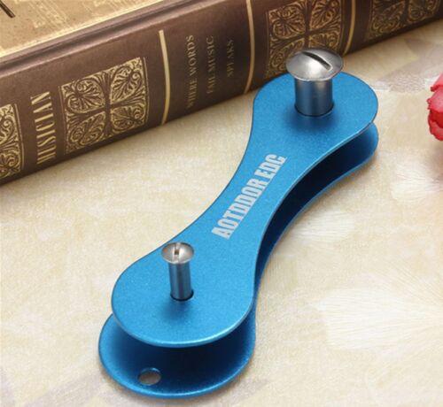 Portable Key chain EDC Pocket Hard Oxide Aluminum Holder Organizer Clip Folder