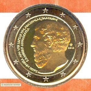 Sondermuenzen-Griechenland-2-Euro-Muenze-2013-Platon-Sondermuenze-Gedenkmuenze-GR