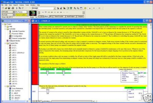 Allen Bradley Programming Lessons RSLogix 500 PLC Training Flash Drive &  Videos